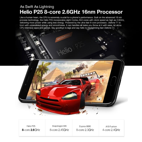 UleFone T1 4G-LTE Smartphone 5.5 inches FHD 6GB RAM 64GB ROMCellphone &amp; Accessories<br>UleFone T1 4G-LTE Smartphone 5.5 inches FHD 6GB RAM 64GB ROM<br>