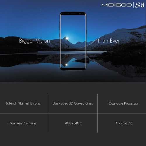 MEIIGOO S8  18:9 Screen 4G Smartphone 4GB RAM 64GB ROMCellphone &amp; Accessories<br>MEIIGOO S8  18:9 Screen 4G Smartphone 4GB RAM 64GB ROM<br>