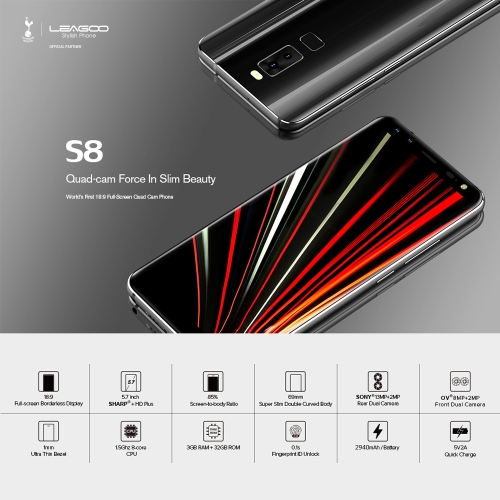LEAGOO S8 4G Smartphone 5.7 inches  3GB RAM 32GB ROMCellphone &amp; Accessories<br>LEAGOO S8 4G Smartphone 5.7 inches  3GB RAM 32GB ROM<br>