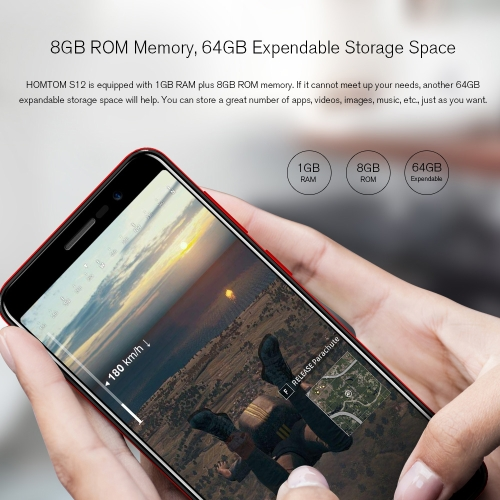 HOMTOM S12 18:9 Full Screen 3G WCDMA Mobile Phone 5-inch  1GB RAM+8GB ROMCellphone &amp; Accessories<br>HOMTOM S12 18:9 Full Screen 3G WCDMA Mobile Phone 5-inch  1GB RAM+8GB ROM<br>