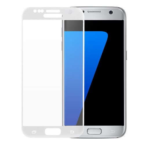 Originale Arealer Full Screen, Galvanotecnica copertura della pellicola proteggi schermo di vetro temperato curvo membrana protettiva complessiva della struttura Arco vetro 9H 2,5 D ultrasottile ad alta trasparenza anti-graffio anti-polvere-oculista per Samsung Galaxy S7