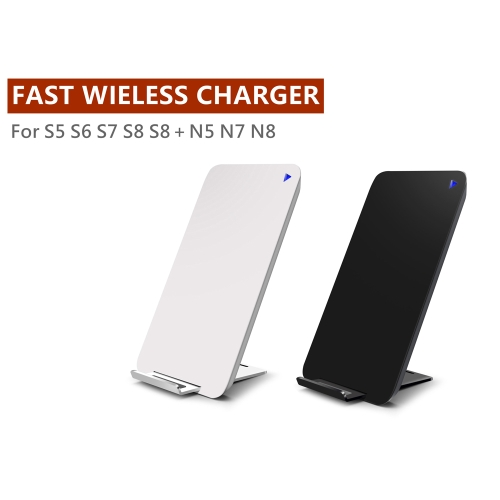 Qi Standard Wireless Charging Stand with Vents Fast Dual-coil Phone Wireless Charger for iPhone 8 iPhone X Samsung Galaxy S8 NoteCellphone &amp; Accessories<br>Qi Standard Wireless Charging Stand with Vents Fast Dual-coil Phone Wireless Charger for iPhone 8 iPhone X Samsung Galaxy S8 Note<br>