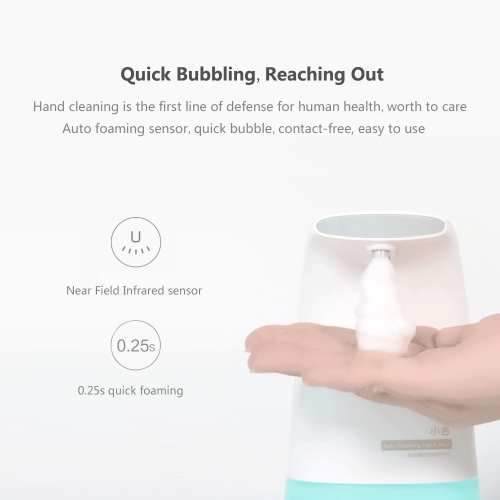 Xiaomi Xiaoji Auto Foaming Hand Washer Skin-friendly Moisture Kitchen Bathroom Bubble Hand Washer Ergonomic DesignCellphone &amp; Accessories<br>Xiaomi Xiaoji Auto Foaming Hand Washer Skin-friendly Moisture Kitchen Bathroom Bubble Hand Washer Ergonomic Design<br>