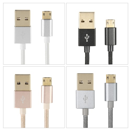 1M Alloy USB 2.0 to Double-side 5 Pin Micro Data Charging Nylon Braid Cable Oxygen-free Copper Conductor High-speed High-efficiencCellphone &amp; Accessories<br>1M Alloy USB 2.0 to Double-side 5 Pin Micro Data Charging Nylon Braid Cable Oxygen-free Copper Conductor High-speed High-efficienc<br>