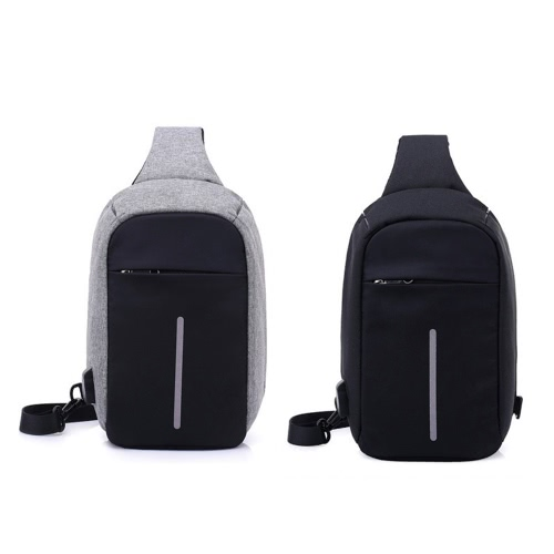 Anti-theft Sling Shoulder Bag with External USB Charge Crossbody Chest Bags Backpack for Cycling Hiking Outdoor Travel Men Women CCellphone &amp; Accessories<br>Anti-theft Sling Shoulder Bag with External USB Charge Crossbody Chest Bags Backpack for Cycling Hiking Outdoor Travel Men Women C<br>