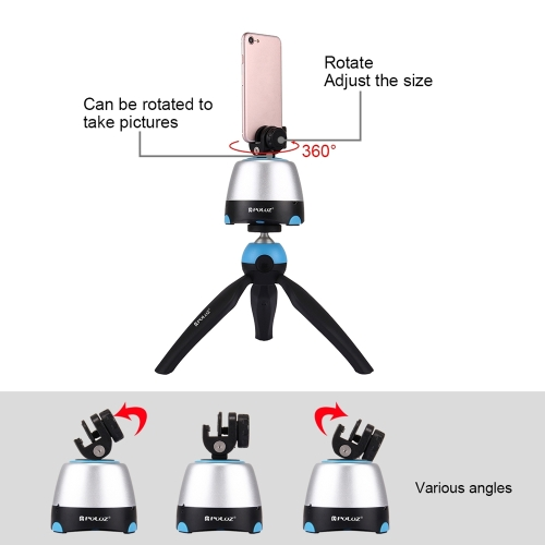 PULUZ Electronic 360-Degree Rotable Pan-Tilt  Panoramic Head + Tripod Mount + Clamp with Remote Controller Cloud Deck for SmartphoCellphone &amp; Accessories<br>PULUZ Electronic 360-Degree Rotable Pan-Tilt  Panoramic Head + Tripod Mount + Clamp with Remote Controller Cloud Deck for Smartpho<br>