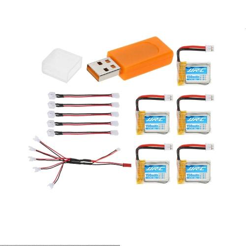 5pcs Original JJRC 3.7V 150mAh 30C Lipo Batteries &amp; USB Charger &amp; 5 in 1 Charging Cable for JJRC H36 RC QuadcopterToys &amp; Hobbies<br>5pcs Original JJRC 3.7V 150mAh 30C Lipo Batteries &amp; USB Charger &amp; 5 in 1 Charging Cable for JJRC H36 RC Quadcopter<br>