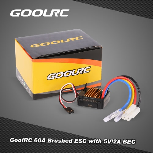 GoolRC 60A Brushed ESC Electric Speed Controller with 5V/2A BEC for 1/10 Axial SCX10 RC4WD D90 RC Crawler Climbing CarToys &amp; Hobbies<br>GoolRC 60A Brushed ESC Electric Speed Controller with 5V/2A BEC for 1/10 Axial SCX10 RC4WD D90 RC Crawler Climbing Car<br>
