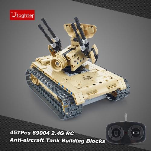 502Pcs Utoghter 69004 2.4G RC Battle Tank Building Blocks Kits Toy Bricks Anti-aircraft Tank Car ModelToys &amp; Hobbies<br>502Pcs Utoghter 69004 2.4G RC Battle Tank Building Blocks Kits Toy Bricks Anti-aircraft Tank Car Model<br>