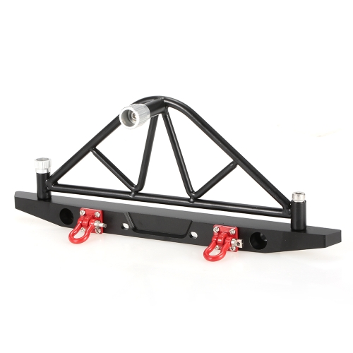 Metal Rear Bumper Bull Bar with LED Headlights Winch Mount Seat for 1/10 AXIAL SCX10 RC Rock CrawlerToys &amp; Hobbies<br>Metal Rear Bumper Bull Bar with LED Headlights Winch Mount Seat for 1/10 AXIAL SCX10 RC Rock Crawler<br>