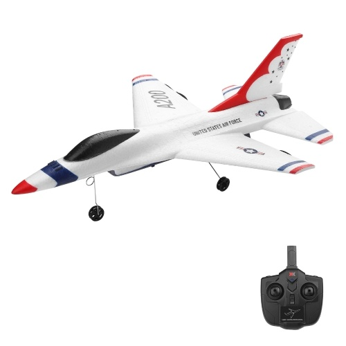 Wltoys XK A200 F-16B RC Flugzeug 2,4 GHz 2CH RC Flugzeug Flugspielzeug für Kinder Jungen