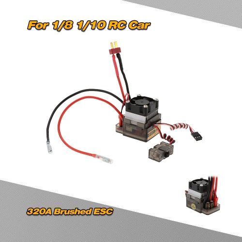 320A 2~4S LiPo Battery Brushed ESC Electronic Speed Controller with 5.6V/2A BEC for 1/8 1/10 Off-road Monster TruckToys &amp; Hobbies<br>320A 2~4S LiPo Battery Brushed ESC Electronic Speed Controller with 5.6V/2A BEC for 1/8 1/10 Off-road Monster Truck<br>