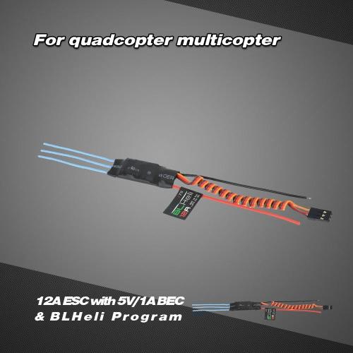 12A Brushless ESC Electronic Speed Controller with 5V/1A BEC &amp; BLHeli Program for DIY QAV250 Quadcopter MulticopterToys &amp; Hobbies<br>12A Brushless ESC Electronic Speed Controller with 5V/1A BEC &amp; BLHeli Program for DIY QAV250 Quadcopter Multicopter<br>
