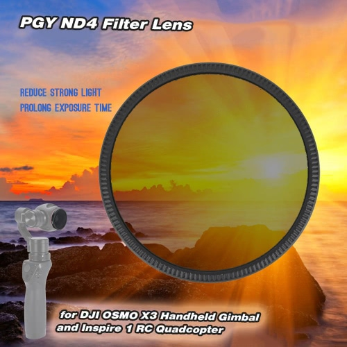 PGY ND4 Filter Lens for DJI OSMO X3 Handheld Gimbal and Inspire 1 RC QuadcopterToys &amp; Hobbies<br>PGY ND4 Filter Lens for DJI OSMO X3 Handheld Gimbal and Inspire 1 RC Quadcopter<br>