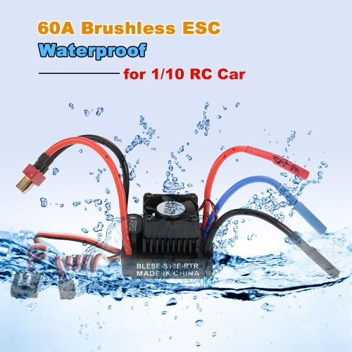 Waterproof 60A Brushless ESC Electronic Speed Controller with 6V/2A BEC for 1/10 RC CarToys &amp; Hobbies<br>Waterproof 60A Brushless ESC Electronic Speed Controller with 6V/2A BEC for 1/10 RC Car<br>