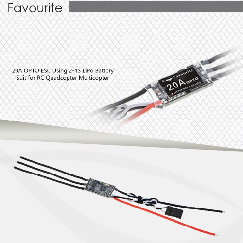2Pcs Favourite Little Bee 20A Brushless OPTO ESC Electronic Speed Controller for QAV250 DJI F330 RC QuadcopterToys &amp; Hobbies<br>2Pcs Favourite Little Bee 20A Brushless OPTO ESC Electronic Speed Controller for QAV250 DJI F330 RC Quadcopter<br>