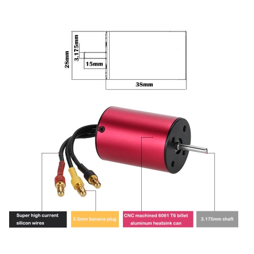GoolRC S2838 3200KV Sensorless Brushless Motor for 1/18 1/16 RC CarToys &amp; Hobbies<br>GoolRC S2838 3200KV Sensorless Brushless Motor for 1/18 1/16 RC Car<br>