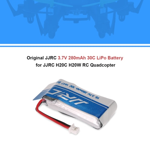 Original JJRC 3.7V 280mAh 30C LiPo Battery for JJRC H20C H20W RC QuadcopterToys &amp; Hobbies<br>Original JJRC 3.7V 280mAh 30C LiPo Battery for JJRC H20C H20W RC Quadcopter<br>