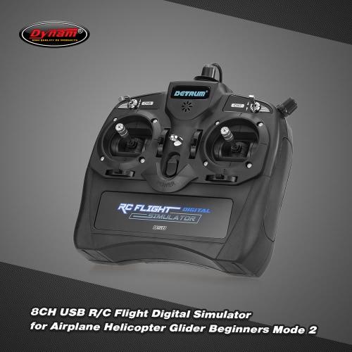 Buy Dynam 8CH USB R/C Flight Digital Simulator Airplane Helicopter Glider Beginners Mode 2