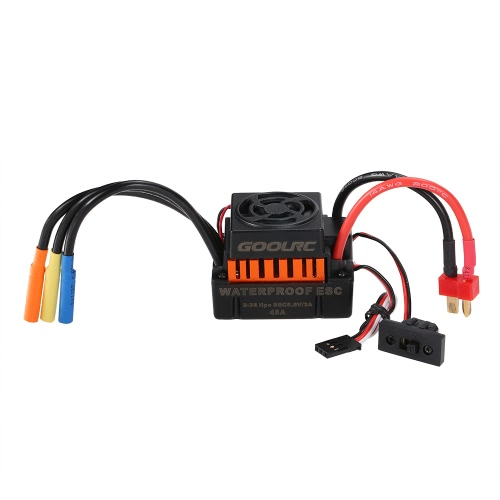 GoolRC Waterproof 45A Brushless ESC Electric Speed Controller with 5.8V/3A BEC for 1/10 RC CarToys &amp; Hobbies<br>GoolRC Waterproof 45A Brushless ESC Electric Speed Controller with 5.8V/3A BEC for 1/10 RC Car<br>