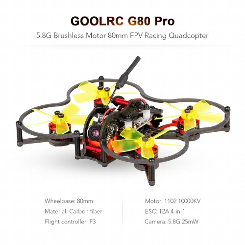 GoolRC G80 Pro 80mm 5.8G 48CH Micro FPV Racing Drone Brushless Motor Quadcopter F3 Flight Controller ARFToys &amp; Hobbies<br>GoolRC G80 Pro 80mm 5.8G 48CH Micro FPV Racing Drone Brushless Motor Quadcopter F3 Flight Controller ARF<br>