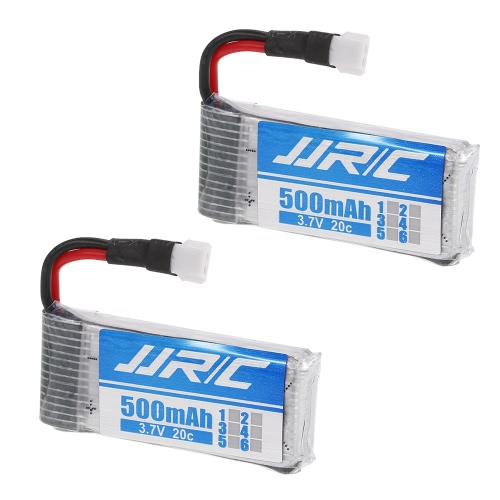 2pcs 3.7V 500mAh 20C LiPo Battery for JJR/C H43WH GoolRC T33 FPV QuadcopterToys &amp; Hobbies<br>2pcs 3.7V 500mAh 20C LiPo Battery for JJR/C H43WH GoolRC T33 FPV Quadcopter<br>