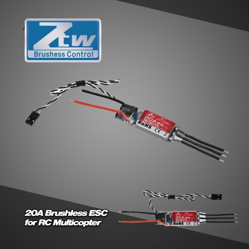 Original ZTW Spider 20A 2-6S LiPo Battery Brushless OPTO ESC Electronic Speed Controller with Blheli Firmware for F450 F550  RC MuToys &amp; Hobbies<br>Original ZTW Spider 20A 2-6S LiPo Battery Brushless OPTO ESC Electronic Speed Controller with Blheli Firmware for F450 F550  RC Mu<br>
