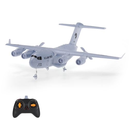 C-17 2.4GHz 2CH 373mm Wingspan RC Aeroplano Trasporto Aerei EPP con Gyro RTF