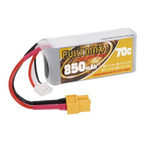 FULLYMAX 3S 11.1V 850mAh 70C High Rate XT60 Plug LiPo Battery for 130 LS180 FPV Racing Quadcopter RC Car BoatToys &amp; Hobbies<br>FULLYMAX 3S 11.1V 850mAh 70C High Rate XT60 Plug LiPo Battery for 130 LS180 FPV Racing Quadcopter RC Car Boat<br>