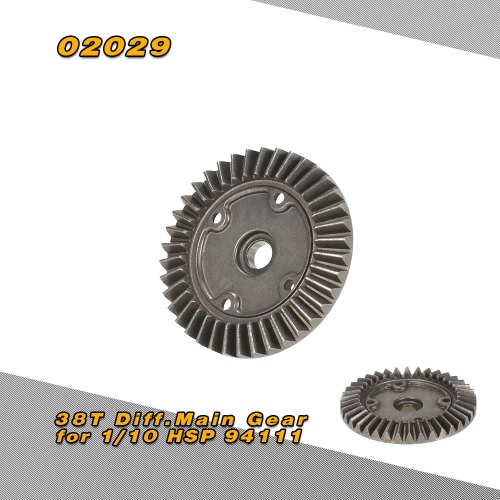 02029 38T Diff.Main Gear for 1/10 HSP 94111 Off-road Monster TruckToys &amp; Hobbies<br>02029 38T Diff.Main Gear for 1/10 HSP 94111 Off-road Monster Truck<br>