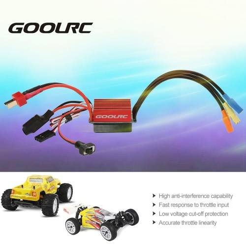 Original GoolRC S-35A Brushless ESC Electric Speed Controller with 5V/2A BEC for 1/12 1/14 1/16 RC CarToys &amp; Hobbies<br>Original GoolRC S-35A Brushless ESC Electric Speed Controller with 5V/2A BEC for 1/12 1/14 1/16 RC Car<br>
