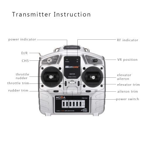 MC6C 2.4G S-FHSS 6CH Mode 2 Transmitter with E6-A 6CH Receiver for RC Fixed-wing Quadcopter Multicopter DroneToys &amp; Hobbies<br>MC6C 2.4G S-FHSS 6CH Mode 2 Transmitter with E6-A 6CH Receiver for RC Fixed-wing Quadcopter Multicopter Drone<br>