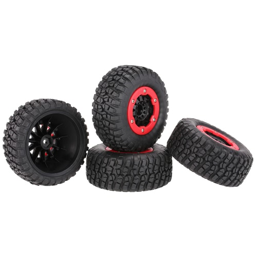 4Pcs AUSTAR AX-3009 High Performance 108mm 1/10 Short Course Truck Tires with Wheel Rim for All TerrainToys &amp; Hobbies<br>4Pcs AUSTAR AX-3009 High Performance 108mm 1/10 Short Course Truck Tires with Wheel Rim for All Terrain<br>