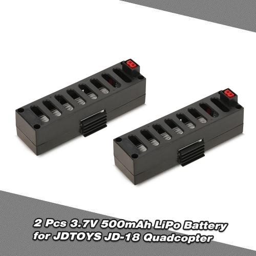 2pcs 3.7V 500mAh LiPo Battery for JDTOYS JD-18 JUN YI TOYS JY018 Wifi FPV QuadcopterToys &amp; Hobbies<br>2pcs 3.7V 500mAh LiPo Battery for JDTOYS JD-18 JUN YI TOYS JY018 Wifi FPV Quadcopter<br>