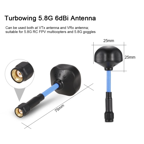 2pcs Turbowing 5.8G 6dBi Mini Mushroom Antenna VTx/VRx RP-SMA for VR Goggles QAV250 210 Racing Drone QuadcopterToys &amp; Hobbies<br>2pcs Turbowing 5.8G 6dBi Mini Mushroom Antenna VTx/VRx RP-SMA for VR Goggles QAV250 210 Racing Drone Quadcopter<br>