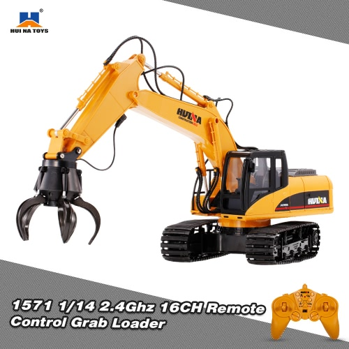HUINA TOYS 1571 1/14 2.4Ghz 16CH Remote Control Grab Loader Grapple Tractor Truck Construction Vehicle Engineering ToysToys &amp; Hobbies<br>HUINA TOYS 1571 1/14 2.4Ghz 16CH Remote Control Grab Loader Grapple Tractor Truck Construction Vehicle Engineering Toys<br>