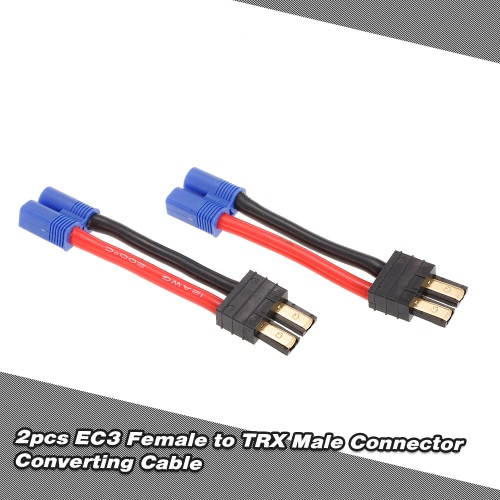2pcs Female EC3 to Male Connector Ultra Adapter Wire Harness for Traxxas RC CarToys &amp; Hobbies<br>2pcs Female EC3 to Male Connector Ultra Adapter Wire Harness for Traxxas RC Car<br>