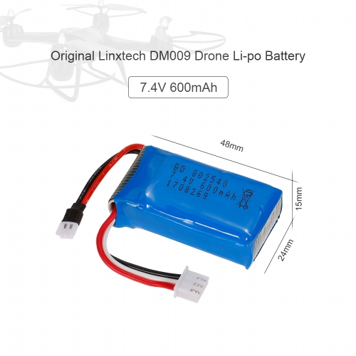 2pcs 7.4V 600mAh Li-po Battery for Linxtech DM009 Wifi FPV Drone QuadcopterToys &amp; Hobbies<br>2pcs 7.4V 600mAh Li-po Battery for Linxtech DM009 Wifi FPV Drone Quadcopter<br>