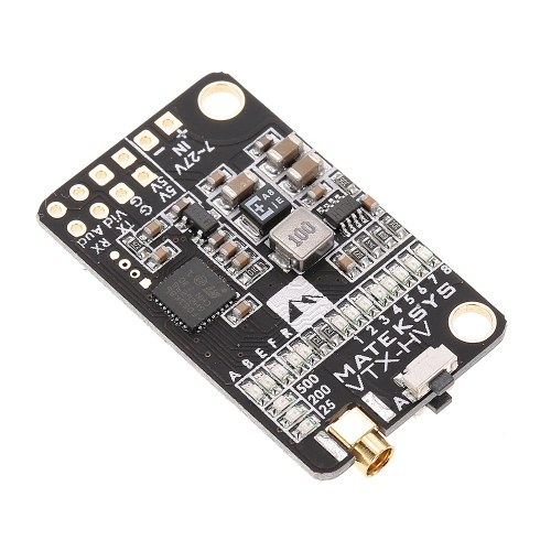 Matek 5.8G 40CH 25/200/500mW Switchable Video Transmitter VTX-HV with 5V/1A BEC Output for RC FPV Racing Quadcopter
