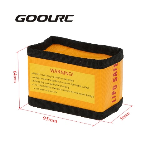 GoolRC 9.5 * 6.4 * 5cm Golden High Quality Glass Fiber RC LiPo Battery Safety Bag Safe Guard Charge SackToys &amp; Hobbies<br>GoolRC 9.5 * 6.4 * 5cm Golden High Quality Glass Fiber RC LiPo Battery Safety Bag Safe Guard Charge Sack<br>