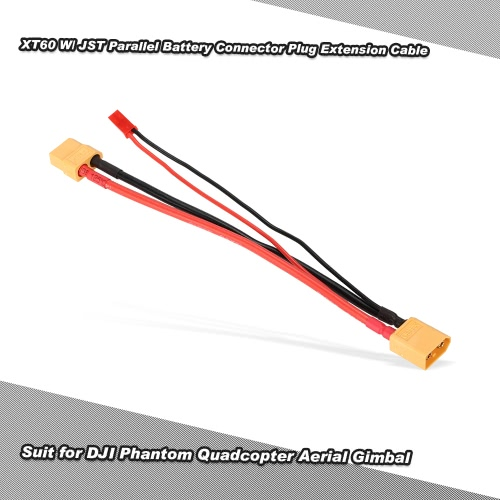 XT60 W/ JST Parallel Battery Connector Plug Extension Cable for DJI Phantom Quadcopter Aerial GimbalToys &amp; Hobbies<br>XT60 W/ JST Parallel Battery Connector Plug Extension Cable for DJI Phantom Quadcopter Aerial Gimbal<br>