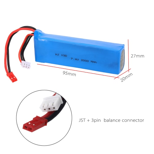 7.4V 2000mAh LiPo Battery for Frsky Taranis X9D PLUS Remote Controller RC TransmitterToys &amp; Hobbies<br>7.4V 2000mAh LiPo Battery for Frsky Taranis X9D PLUS Remote Controller RC Transmitter<br>