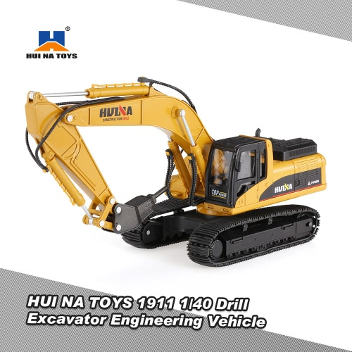 HUINA TOYS 1711 1/50 Drill Excavator Engineering Vehicle with Alloy Breaking Hammer Kids Toy Housing Decoration CollectionToys &amp; Hobbies<br>HUINA TOYS 1711 1/50 Drill Excavator Engineering Vehicle with Alloy Breaking Hammer Kids Toy Housing Decoration Collection<br>