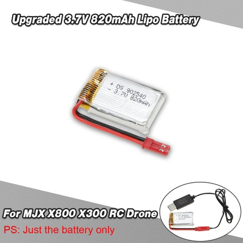 Upgraded 3.7V 820mAh Lipo Battery for MJX X800 X300 Skytech TK110HW RC DroneToys &amp; Hobbies<br>Upgraded 3.7V 820mAh Lipo Battery for MJX X800 X300 Skytech TK110HW RC Drone<br>