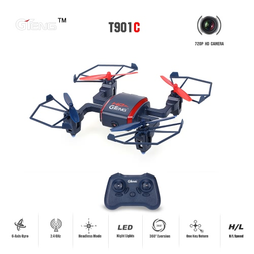 Original GTeng T901C 4CH 6-Axis RC Quadcopter RTF Drone with 720P HD Camera and Headless ModeToys &amp; Hobbies<br>Original GTeng T901C 4CH 6-Axis RC Quadcopter RTF Drone with 720P HD Camera and Headless Mode<br>