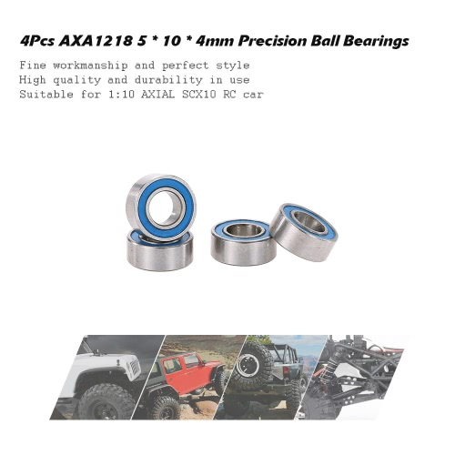 4Pcs AXA1218 5 * 10 * 4mm Precision Ball Bearings RC Accessories for 1:10 AXIAL SCX10 RC CarToys &amp; Hobbies<br>4Pcs AXA1218 5 * 10 * 4mm Precision Ball Bearings RC Accessories for 1:10 AXIAL SCX10 RC Car<br>