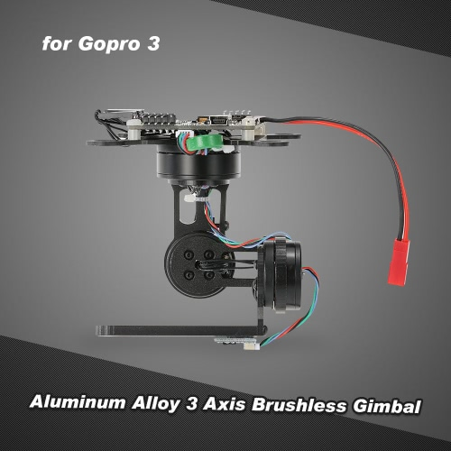 Aluminum Alloy 3 Axis Brushless Gimbal with Storm32 BGC Control Panel for Gopro 3 4 DJI F450 F550 Cheerson CX-20 Aerial PhotographToys &amp; Hobbies<br>Aluminum Alloy 3 Axis Brushless Gimbal with Storm32 BGC Control Panel for Gopro 3 4 DJI F450 F550 Cheerson CX-20 Aerial Photograph<br>