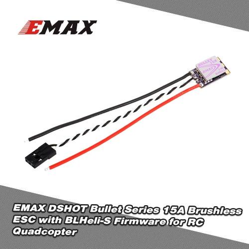 EMAX 15A Brushless ESC Bullet Series BLHeli-S Dshot 2-4S Electric Speed Controller for 88 90 100 FPV Racer QuadcopterToys &amp; Hobbies<br>EMAX 15A Brushless ESC Bullet Series BLHeli-S Dshot 2-4S Electric Speed Controller for 88 90 100 FPV Racer Quadcopter<br>