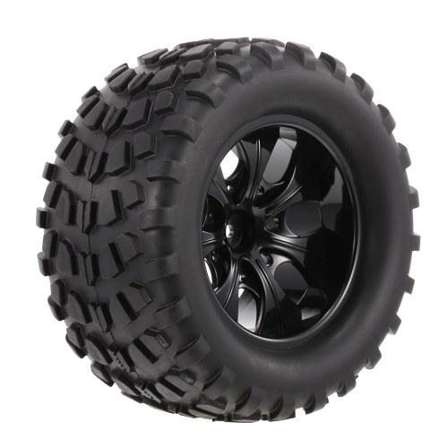 4PCS 1/10 Tyre Nail Block Tread Pattern 7 Spokes Rim for 1/10 HSP HPI Redcat RC4WD AXIAL RC Car