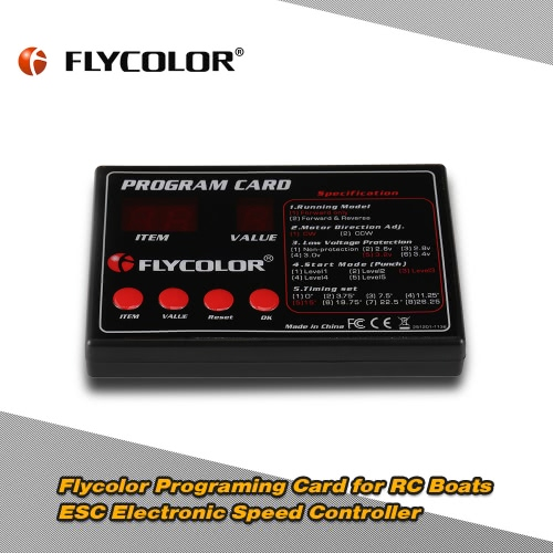 Original Flycolor Programing Card for RC Boats ESC Electronic Speed ControllerToys &amp; Hobbies<br>Original Flycolor Programing Card for RC Boats ESC Electronic Speed Controller<br>